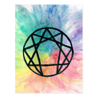 Colorful Enneagram Postcard