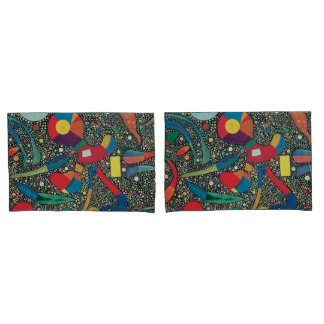 Colorful Ensemble by Wassily Kandinsky Pillowcase