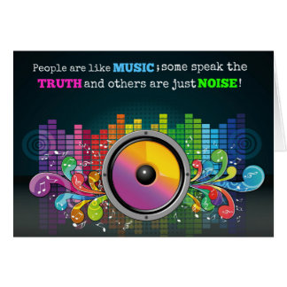 Colorful Equalizer People Are Like Music Quote Card