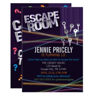 Colorful Escape Room Invitation