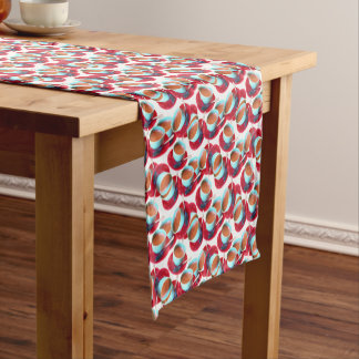 Colorful Espresso Cup and Saucer Photograph Short Table Runner