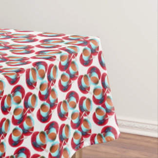 Colorful Espresso Cup and Saucer Photograph Tablecloth