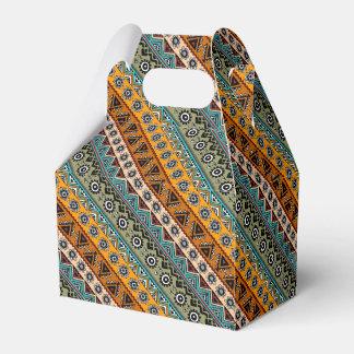 Colorful ethnic aztec patterns design favor box