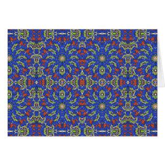 Colorful Ethnic Design Card
