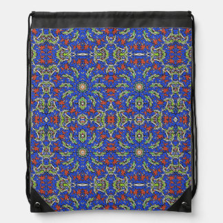 Colorful Ethnic Design Drawstring Bag