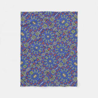 Colorful Ethnic Design Fleece Blanket