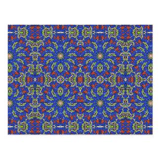 Colorful Ethnic Design Postcard