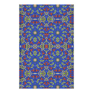 Colorful Ethnic Design Stationery