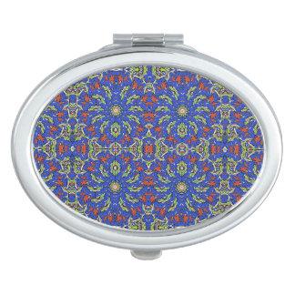 Colorful Ethnic Design Vanity Mirrors