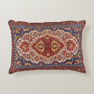 Colorful Ethnic Floral Geometric Rug Design Decorative Pillow