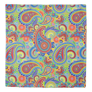 Colorful Ethnic Floral Paisley Pattern Duvet Cover