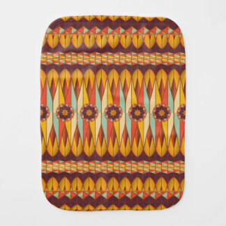 Colorful ethnic pattern baby burp cloth