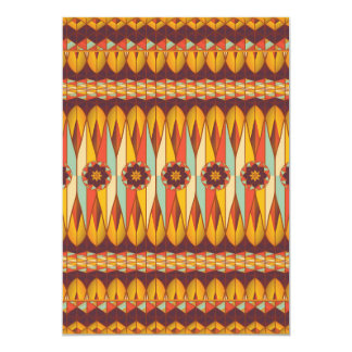 Colorful ethnic pattern card