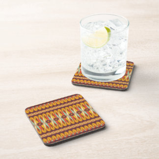 Colorful ethnic pattern coaster