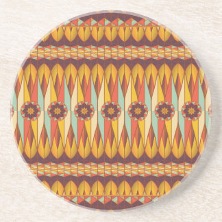 Colorful ethnic pattern drink coasters