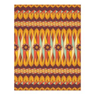 Colorful ethnic pattern flyer design