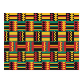 Colorful Ethnic Pattern Postcard