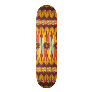 Colorful ethnic pattern skate decks