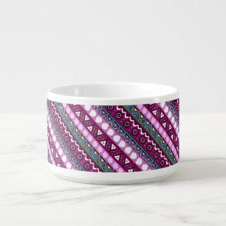 Colorful ethnic patterns design bowl