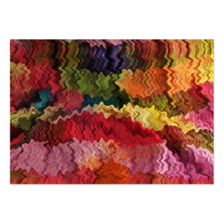 Colorful Fabric Abstract ATC Pack Of Chubby Business Cards