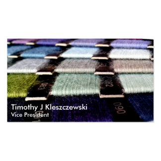 Colorful Fabric Thread Swatches Business Card