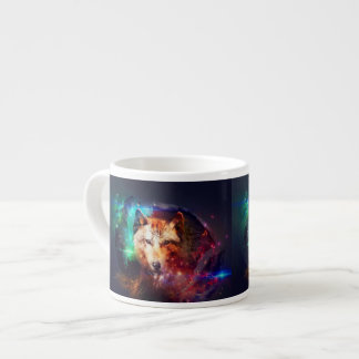 Colorfulface wolf espresso cup