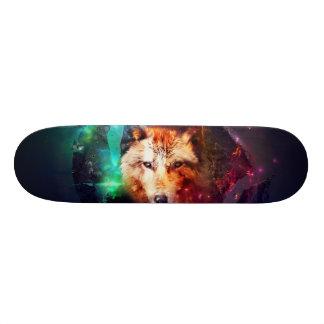Colorfulface wolf skate board