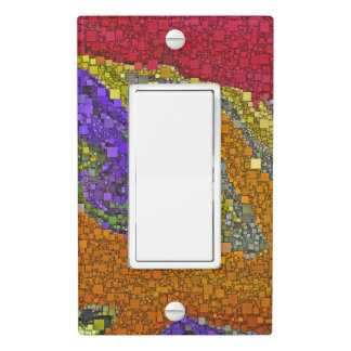 Colorful Fall Bouquet Geometric Design Light Switch Cover