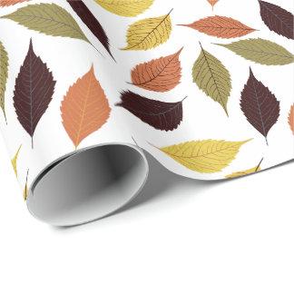 Colorful Fall Leafs Seamless Pattern