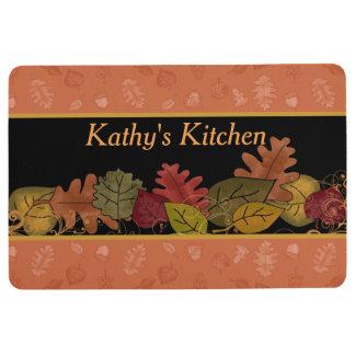 Colorful Fall Leaves Custom Floor Mat