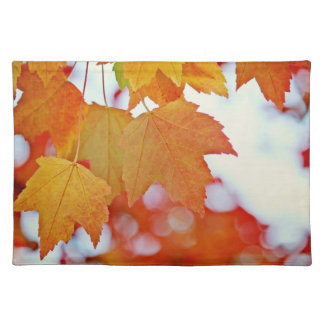 Colorful Fall Leaves Placemat