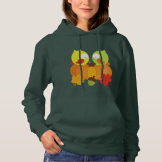 Colorful Fall Owls Hoodie