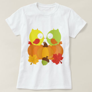 Colorful Fall Owls T-Shirt