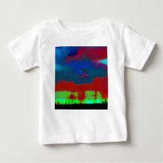 Colorful Fall Toned Abstract Horizon Sky Baby T-Shirt