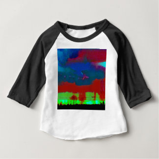 Colorful Fall Toned Abstract Horizon Sky Baby T-Shirt