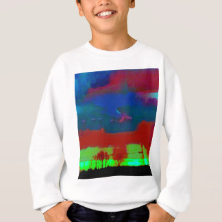 Colorful Fall Toned Abstract Horizon Sky Sweatshirt