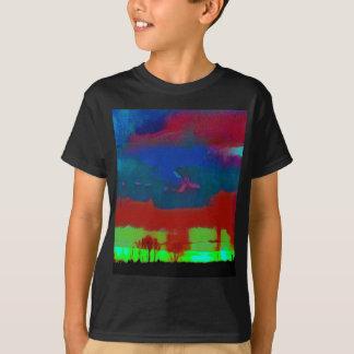 Colorful Fall Toned Abstract Horizon Sky T-Shirt