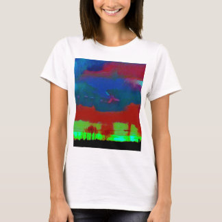 Colorful Fall Toned Abstract Horizon Sky T-Shirt