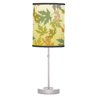 Colorful Falling Autumn Leaves Table Lamp