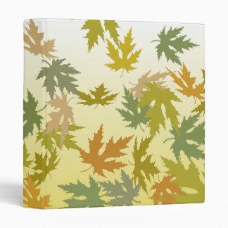 Colorful Falling Autumn Leaves Vinyl Binder