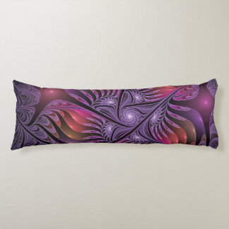 Colorful Fantasy Abstract Modern Purple Fractal Body Pillow