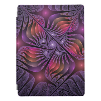 Colorful Fantasy Abstract Modern Purple Fractal iPad Pro Cover