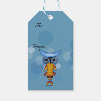 Colorful Fantasy Whimsical Owl Pack Of Gift Tags