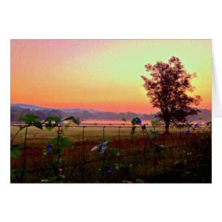 Colorful Farm Sunrise Card