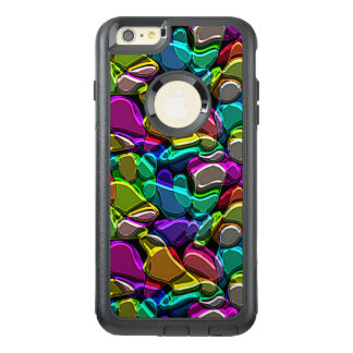 Colorful Faux Embossed Metallic Mosaic Pattern OtterBox iPhone 6/6s Plus Case