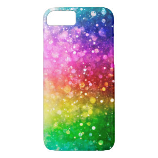 Colorful Faux Glitter Bokeh Style iPhone 8/7 Case