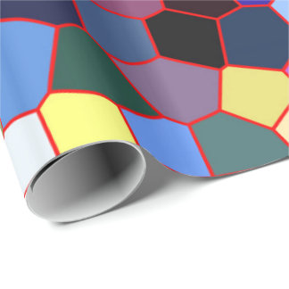 Colorful Faux Stained Glass Look 2 Wrapping Paper