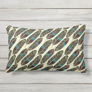 Colorful Feathers Pattern throw pillows