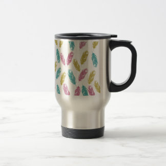 Colorful Feathers pattern Travel Mug