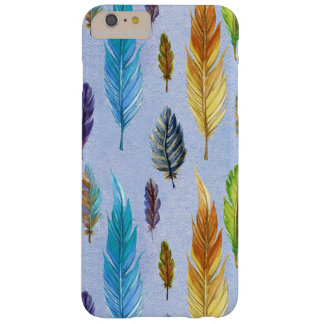 Colorful Feathers Seamless Pattern Barely There iPhone 6 Plus Case